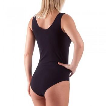 Body BELLISSIMA in microfibra donna spalla larga art. 090