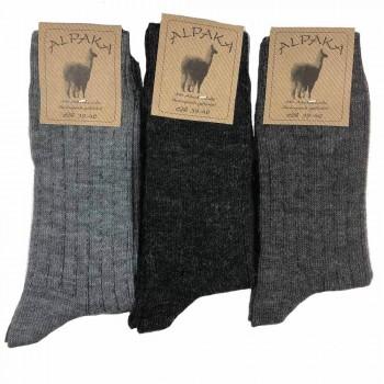 (3paia) Calzini in lana + alpaca corti uomo