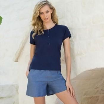 Pigiama corto leggero in cotone jersey e modal JADEA 3089