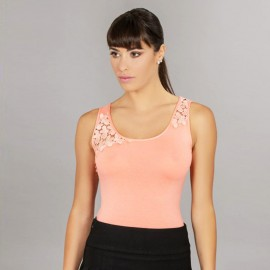 Top in viscosa spalla macramé ANTONELLA art. 63288