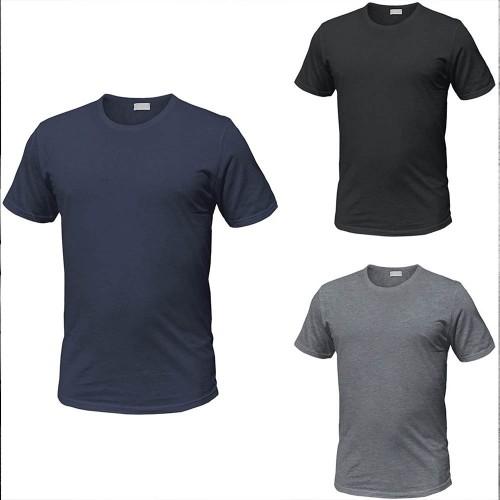 (3pz) T-shirt in puro cotone girocollo ENRICO COVERI (anche taglie maxi)