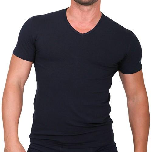 T-shirt scollo V in cotone elasticizzato ENRICO COVERI