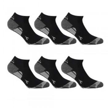 (6pz) Calzini sportivi bassi in cotone elasticizzato DIADORA