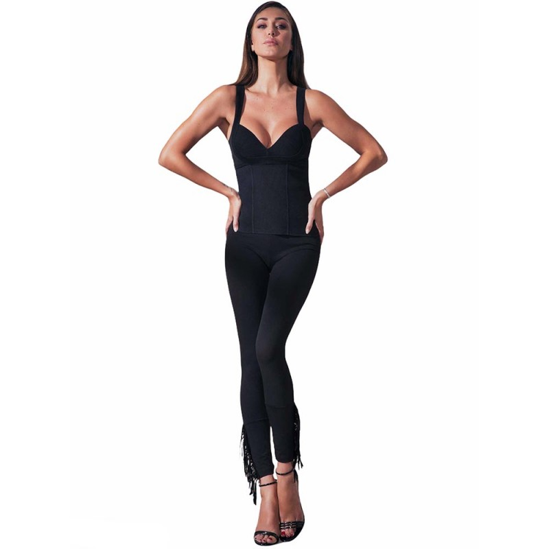 Leggings cotone stretch frange JADEA 4172